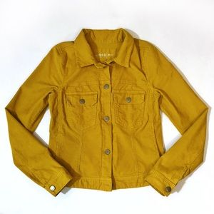 Gap mustard yellow corduroy button jacket TALL
